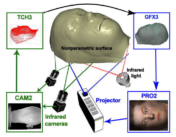 Touch Sensing on Non-Parametric Rear-Projection Surfaces: A Physical-Virtual Head for Hands-On Healthcare Training