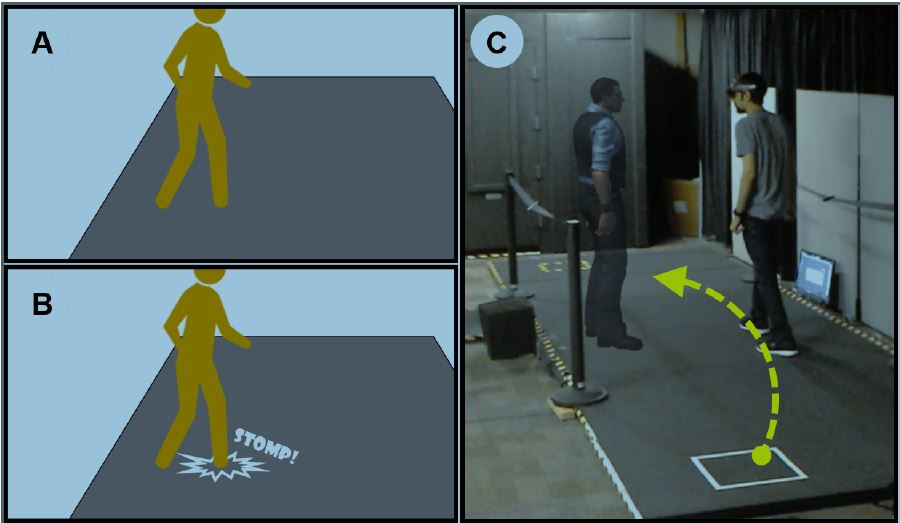 Effects of Unaugmented Periphery and Vibrotactile Feedback on Proxemics with Virtual Humans in AR