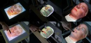Optical Touch Sensing on Non-Parametric Rear-Projection Surfaces