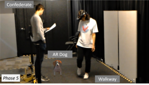 Walking Your Virtual Dog: Analysis of Awareness and Proxemics with Simulated Support Animals in Augmented Reality