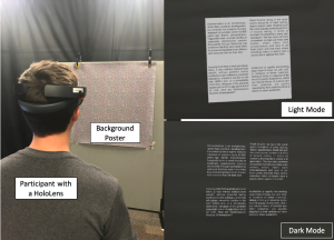 Effects of Dark Mode on Visual Fatigue and Acuity in Optical See-Through Head-Mounted Displays