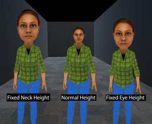 Virtual Big Heads: Analysis of Human Perception and Comfort of Head Scales in Social Virtual Reality
