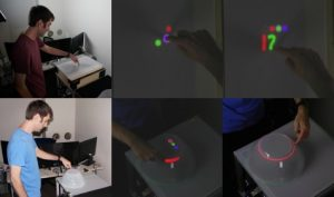Multi-touch Detection and Semantic Response on Non-parametric Rear-projection Surfaces